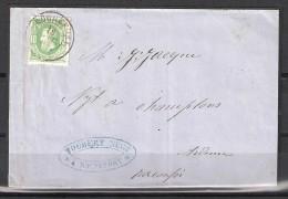 30 S/lettre De Rochefort Pour Champlon. - 1869-1883 Leopold II