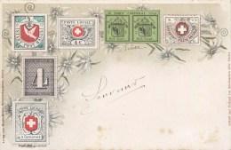 TIMBRES SUISSE POSTE CANTONALE POSTE LOCALE PORT CANTONAL STAMP SUISSE 1900 - Timbres (représentations)