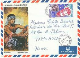 Enveloppe Nouvelle Calédonie Et Dépendances - Mélanésien - Par Avion -  1982 - Briefe U. Dokumente