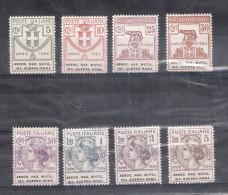 Italia 1924. Francobolli - Enti Semistatali - Associazione Nazionale Mutilati Invalidi Guerra- Roma. Filigrana Corona. - Nuovi