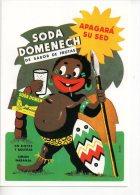 REF 164  : CPM Pub Espagnole Boisson Soda Domenech Papou - Publicidad