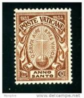 VATICAN 1933 Année Sainte 0,80 L.  Neuf Sans Charnière  **  Sass. 17 - Neufs