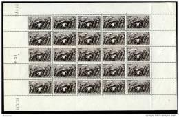 Feuille Complète De 25 Timbres Yv 497 - Feuilles Complètes