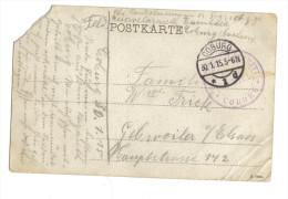 Coburg Cachet Reserve Lazarett 1915 - Poststempel (Briefe)