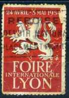 Vignettes, Viñetas, Cinderellas FERIA DE LYON , FOIRE DE LYON, 1954, Defectos - Unclassified