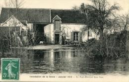 CPA 77 INONDATION DE LA SEINE JANVIER 1910 LE PORT MONTAIN DANS L EAU - Andere Gemeenten