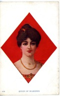 Playing Cards - Jeux De Cartes - Queen Of Diamnonds - Carreau Dame - Cartes à Jouer
