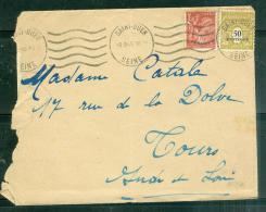 Yvert N° 704 EN COMPLEMENT D'AFFRANCHIESSEMENT AVEC N°652  SUR LAC DE MARS 1945 - LO34715 - 1944-45 Arc De Triomphe