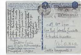 8005 FRANCHIGIA MILANO CENTRO AUTOMOBILISTICO X CATANIA - TARGHETTA TACI - 1900-44 Victor Emmanuel III