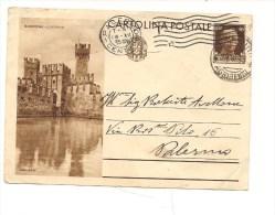 $3-3517 INTERO POSTALE TURISTICA SIRMIONE 30C Pieghine - 1900-44 Vittorio Emanuele III