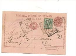 $3-3523 ANNULLO TONDO RIQUADRATO RACALMUTO MISTA DUE RE PIEGA 1902. - 1900-44 Vittorio Emanuele III