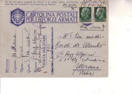 Cartolina Di F M --dalla RUSSIA--  P M 201-- 13 8 1942-- 5° Regg. Alpini Btg. Morbegno Div. Tridentina - 1900-44 Vittorio Emanuele III