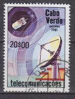 Cape Verde 1981 Mi. 443     20.00 (E) Fernmeldewesen Satellitantenne - Islas De Cabo Verde