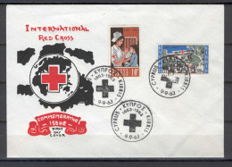 Cyprus 1963 (Vl 45-46) Red Cross Centenary UNOFFICIAL FDC - Lettres & Documents