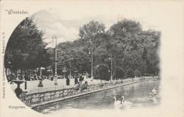 ALLEMAGNE - HESSE - WIESBADEN - Dos Simple - Kurgarten. Frankfurter Lichtdruckanstalt, Frankfurt A. M. - Wiesbaden