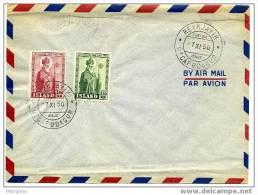 ISLANDE 1950  FDC Jon Arason évêque Mi Nr 271-2 - FDC