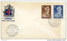 ISLANDE 1960  FDC Année Internationale Des Réfugiés  Mi Nr 340-1 - FDC