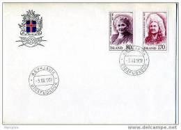 ISLANDE 1979  FDC  Femmes Islandaises   Mi Nr 541-2 - FDC