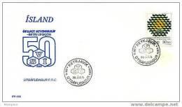 ISLANDE 1984  FDC Fédération Des Employeurs  Mi Nr 621 - FDC