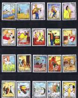 FUJEIRA Compete Series Of 20 Stamps Disney  101 Dalmatians Used - Disney
