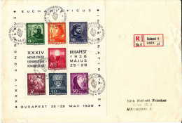 1938  Int. Eucharister Kongress  Budapest  Mi Nr Block 3 FDC - Blocks & Kleinbögen