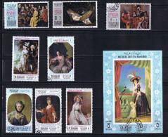 SHARJAH 1968  8 Timbres + BF Tableaux: Femmes Fête Des Mères Oblit - Summer 1968: Mexico City