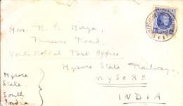 Belgium Commercial Cover To Mysore, India 1980 - Very Interesting That Sender Has Written On Back - Belgium