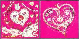 France Fêtes N° 4717A & 4718A Ou 787 Et 788 Autoadhésif -> Coeurs De Hermès - Saint Valentin 2013 - Other