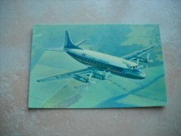 CPSM Avion Air France Vickers Viscount - Flugwesen