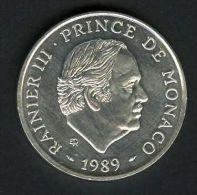 MONACO :  100 Francs Argent RAINIER III, 1989, 30 000 Exemplaires. - Unclassified