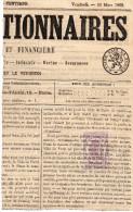 Timbre Imperiale 20c Violet , 1869 Sur Part De Journal - Fiscales