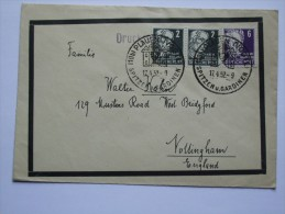 GERMANY ALLIED COVER WITH PLAUEN SONDERSTEMPEL TO ENGLAND - Zone Soviétique