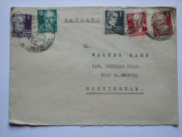 GERMANY ALLIED COVER 1949 WITH ARNSTADT  SONDERSTEMPEL TO ENGLAND - Zone Soviétique