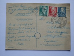 GERMANY ALLIED POSTCARD RUSSIAN ZONE 1949 WITH ARNSTADT SONDERSTEMPEL TO ENGLAND - Zone Soviétique