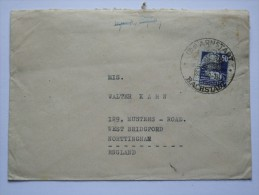 GERMANY ALLIED COVER RUSSIAN ZONE 1950  WITH ARNSTADT SONDERSTEMPEL TO ENGLAND - Zone Soviétique