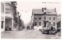 Foto Photo : Reproduction D´une Carte Postale De Herstal Maison Communale ( Tram ) - Herstal