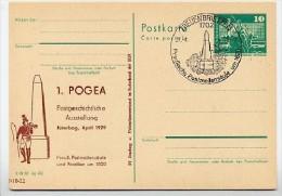 DDR P79-3a-79 C79 Postkarte PRIVATER ZUDRUCK Postmeilensäule Jüterbog Sost. 1979 - Post