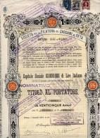 SOCIETA´ PER LA FILATURA DEI CASCAMI DI SETA-MILANO-CERTIFICATO N.10902- DI 25 AZIONI - Textile