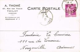 ARDENNES 08.THILAY CARTE POSTALE COMMERCIALE A.THOME 67 RUE DU PAQUIS