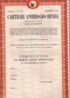 CARTIERE AMBROGIO BINDA-MILANO-CERTIFICATO DA 10 AZIENDE - Industrie