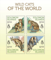 slm13705a Solomon Is. 2013 Wild Cats s/s