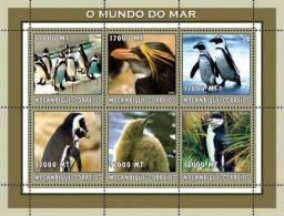 m2215 Mozambique 2002 Penguins s/s Michel: 2674-2679 Scott: 1660