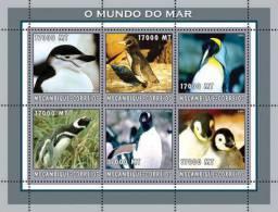 m2217 Mozambique 2002 Penguins s/s Michel: 2668-2673 Scott: 1659