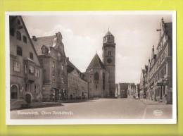 AK Donauwörth, Obere Reichsstrasse Mit Stadtpfarrkirche UNGELAUFEN - Donauwoerth