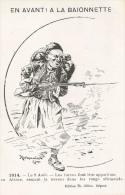 En Avant à La Baïonnette - 1914, Le 9 Août - Les Turcs Font Leur Apparition En Allemagne - Illustration Renimel Léon - Guerra 1914-18