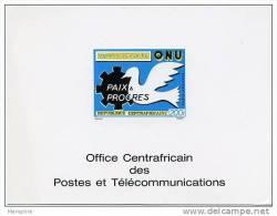 1970 Epreuve De Luxe Sur Bristol 25è Ann. ONU Poste Aérienne - Central African Republic