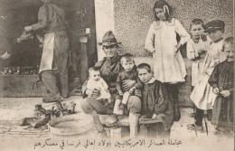 CPA Sous-titrée En Arabe - Camp Américain En France - Soldat Américain Avec Des Enfants - Guerra 1914-18