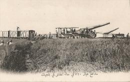 CPA Sous-titrée En Arabe - En Belgique - Canons De 320 En Position De Tir - Guerra 1914-18