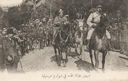 CPA Sous-titrée En Arabe - Marseille - Défilé Des Hindous à Cheval - Guerra 1914-18