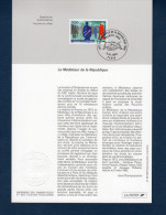 """"""" 25 ANS DU MEDIATEUR DE LA REPUBLIQUE """" Sur Notice Officielle 1er Jour De 1998  N° YT 3134. FDC - 1990-1999"""